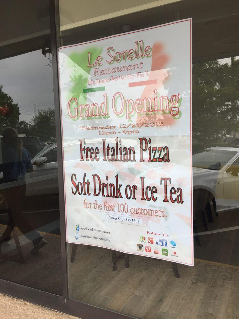 free pizza Boca Raton