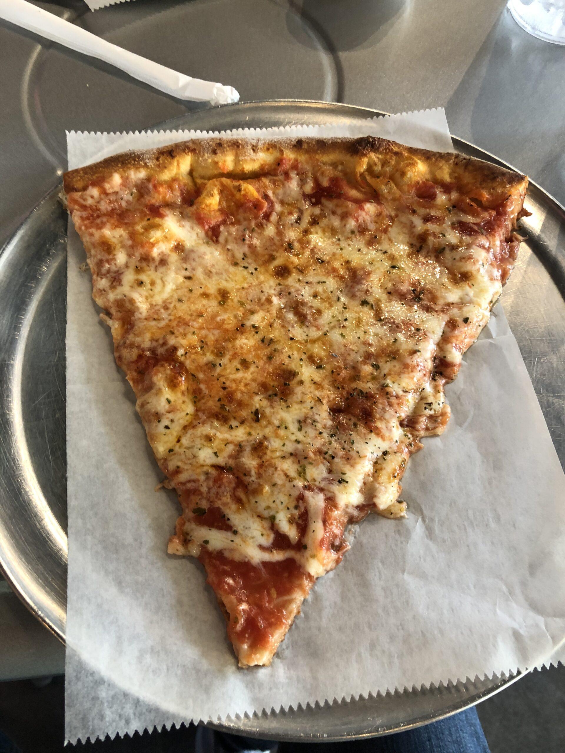 Cheese pizza slice at La Rossa Pizzeria