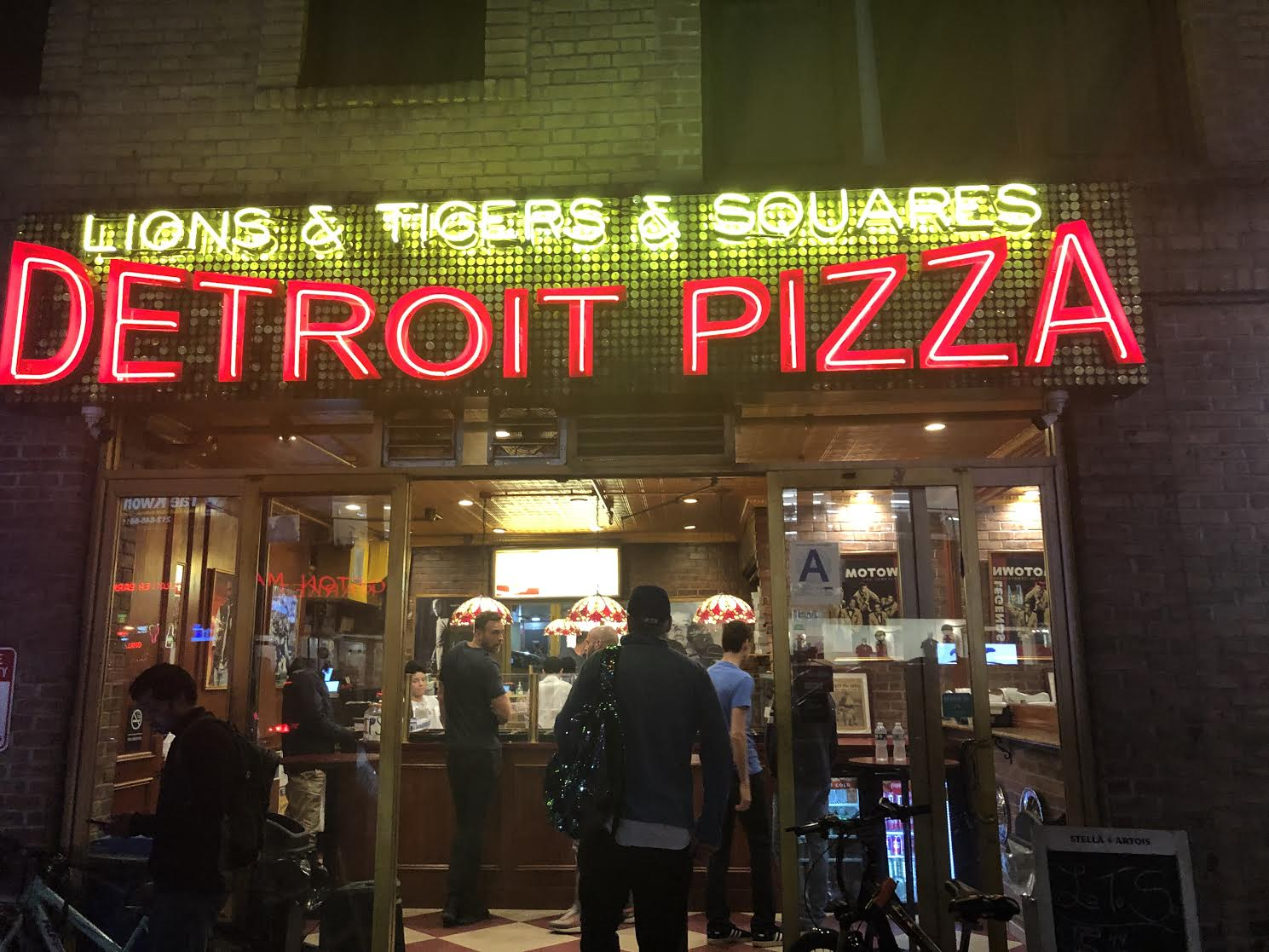 Lions & Tigers & Squares Pizza